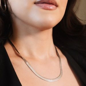 Sterling Silver Flat Snake Chain Italy